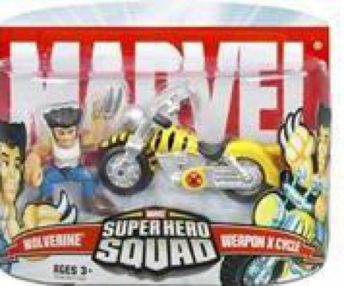 Marvel Super Hero Squad Series 5 Wolverine & Weapon X Cycle 3-Inch Mini Figure 2-Pack