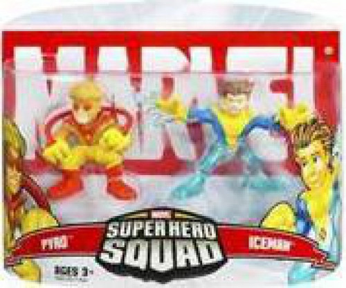 Marvel Super Hero Squad Series 5 Pyro & Iceman 3-Inch Mini Figure 2-Pack