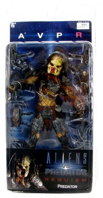 NECA Alien vs Predator AVP Requiem Series 2 Predator Action Figure [Unmasked Wolf]