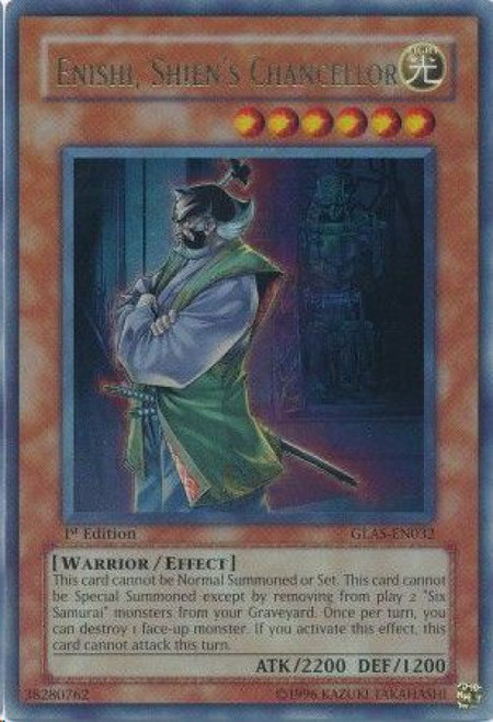 YuGiOh GX Trading Card Game Gladiator's Assault Ultra Rare Enishi, Shien's Chancellor GLAS-EN032