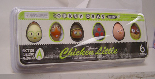 NECA Disney Chicken Little Set of 6 Mini Block Figures in Plastic Egg Carton