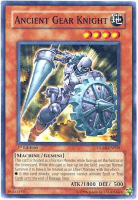 YuGiOh GX Trading Card Game Gladiator's Assault Common Ancient Gear Knight GLAS-EN029