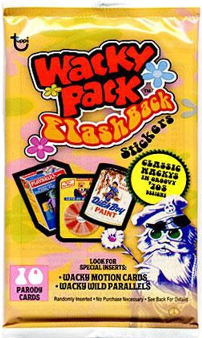 Wacky Packages Topps 2008 Flashback Series 1 Trading Card Sticker Pack [10 Cards]