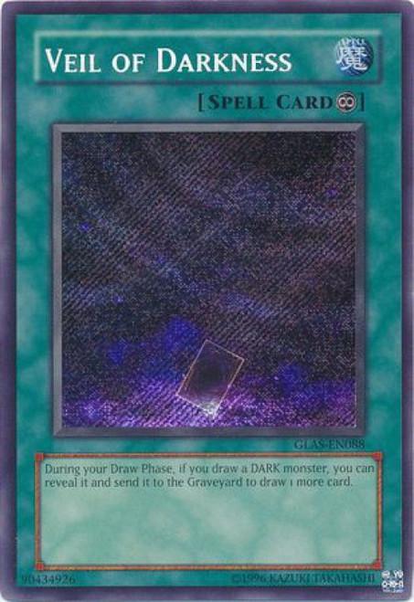 YuGiOh GX Trading Card Game Gladiator's Assault Secret Rare Veil of Darkness GLAS-EN088