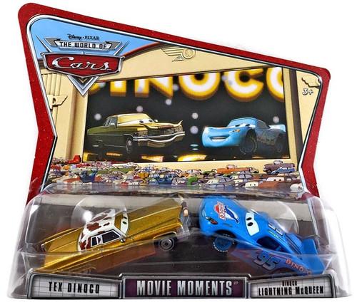 Disney / Pixar Cars The World of Cars Movie Moments Tex Dinoco & Dinoco McQueen Diecast Car 2-Pack