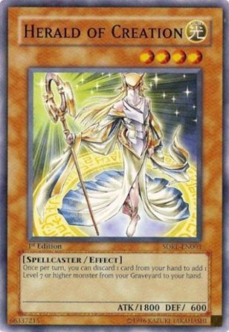 YuGiOh GX Trading Card Game Structure Deck: Rise of the Dragon Lords Common Herald of Creation SDRL-EN003