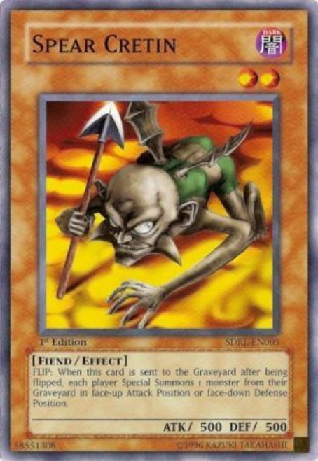YuGiOh GX Trading Card Game Structure Deck: Rise of the Dragon Lords Common Spear Cretin SDRL-EN005