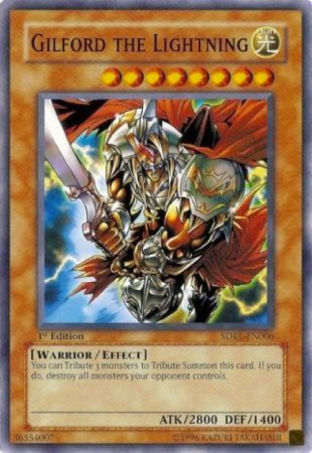 YuGiOh GX Trading Card Game Structure Deck: Rise of the Dragon Lords Common Gilford the Lightning SDRL-EN006