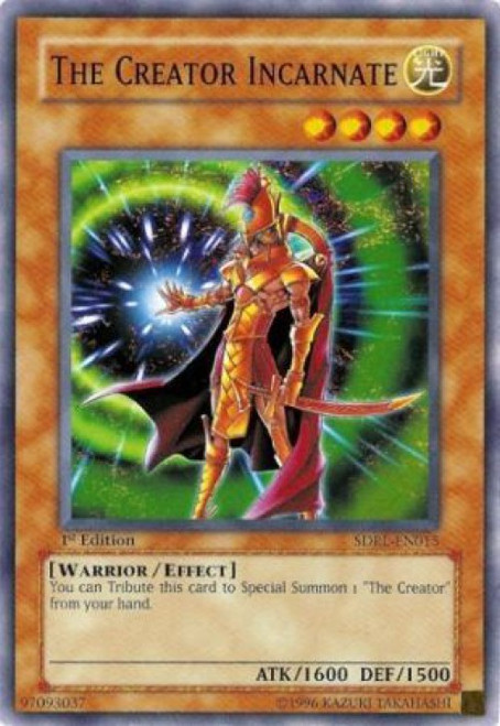 YuGiOh GX Trading Card Game Structure Deck: Rise of the Dragon Lords Common The Creator Incarnate SDRL-EN015