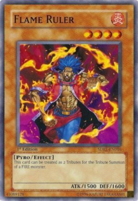 YuGiOh GX Trading Card Game Structure Deck: Rise of the Dragon Lords Common Flame Ruler SDRL-EN016