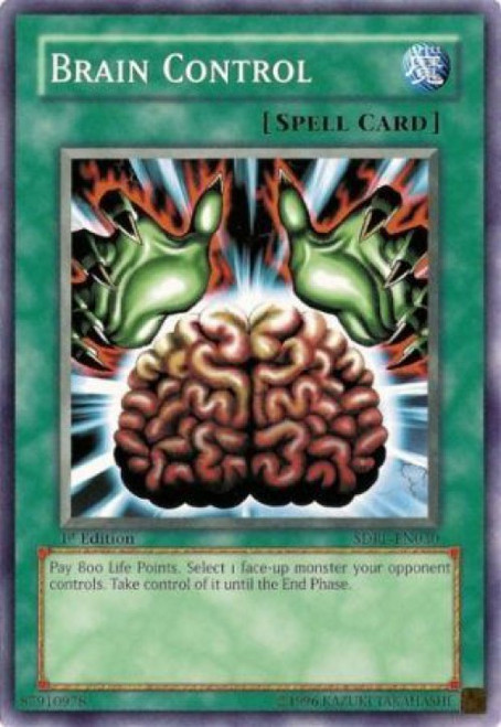 YuGiOh GX Trading Card Game Structure Deck: Rise of the Dragon Lords Common Brain Control SDRL-EN030