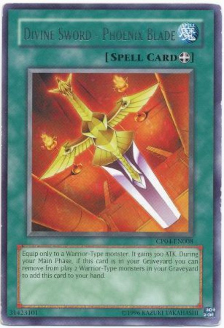 YuGiOh GX Trading Card Game Champion Pack: Game 4 Rare Divine Sword - Phoenix Blade CP04-EN008