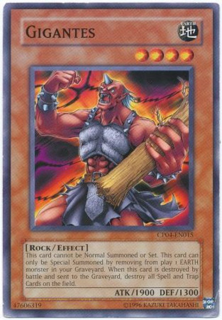 YuGiOh GX Trading Card Game Champion Pack: Game 4 Common Gigantes CP04-EN015