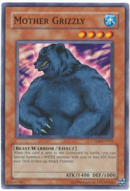 YuGiOh GX Trading Card Game Champion Pack: Game 4 Common Mother Grizzly CP04-EN013