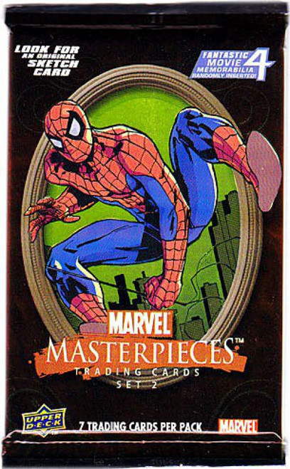 Marvel Skybox Masterpieces Series 2 Trading Card Pack [7 Cards]