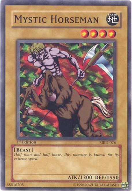 YuGiOh Metal Raiders Common Mystic Horseman MRD-076