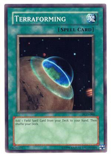 YuGiOh Pharaonic Guardian Common Terraforming PGD-088