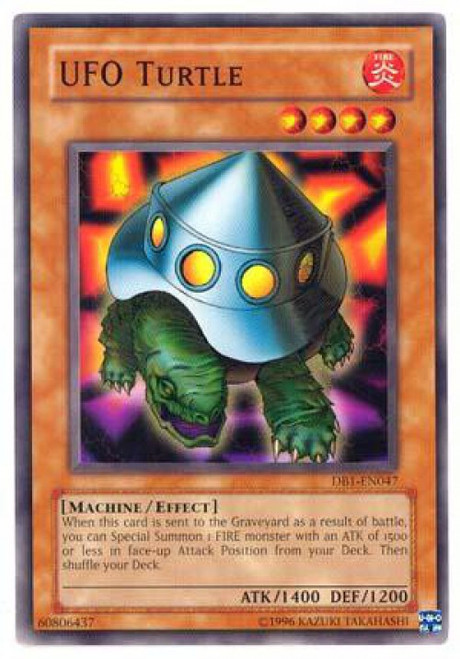 YuGiOh Dark Beginning 1 Common UFO Turtle DB1-EN047