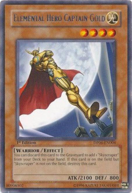 YuGiOh GX Trading Card Game Duelist Pack Jaden Yuki 3 Rare Elemental Hero Captain Gold DP06-EN004