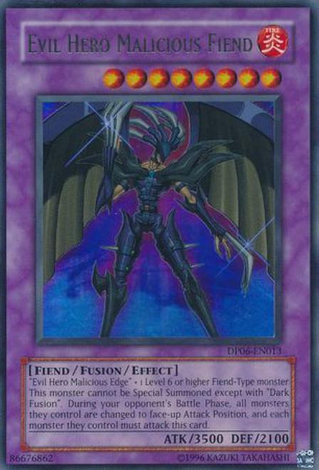 YuGiOh GX Trading Card Game Duelist Pack Jaden Yuki 3 Ultra Rare Evil Hero Malicious Fiend DP06-EN013