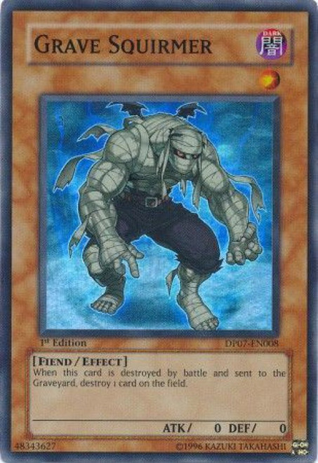 YuGiOh GX Trading Card Game Duelist Pack Jesse Anderson Super Rare Grave Squirmer DP07-EN008