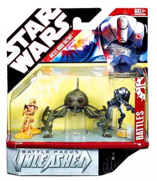 Star Wars Revenge of the Sith Unleashed Battle Packs 2007 Battle Droids Action Figure 3-Pack [Ultimate Battles]