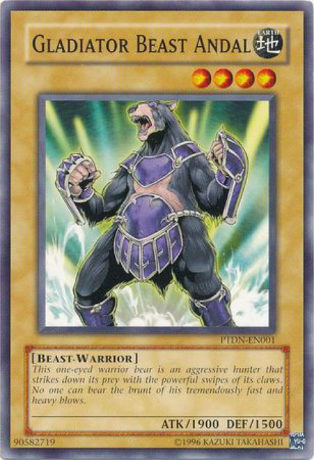YuGiOh GX Trading Card Game Phantom Darkness Common Gladiator Beast Andal PTDN-EN001