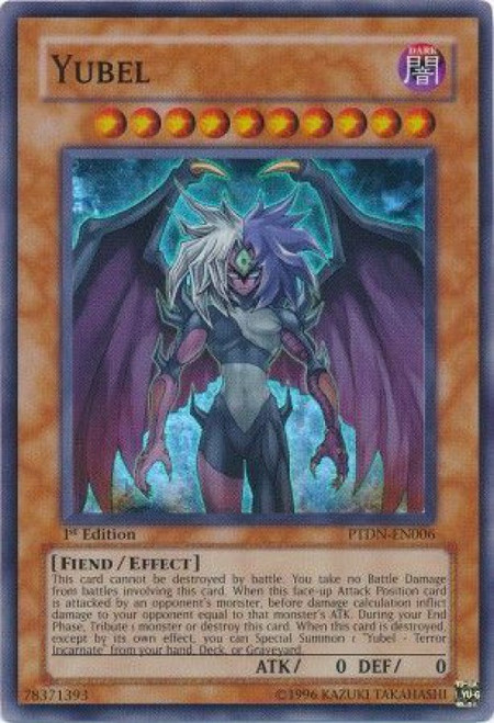 YuGiOh GX Trading Card Game Phantom Darkness Super Rare Yubel PTDN-EN006