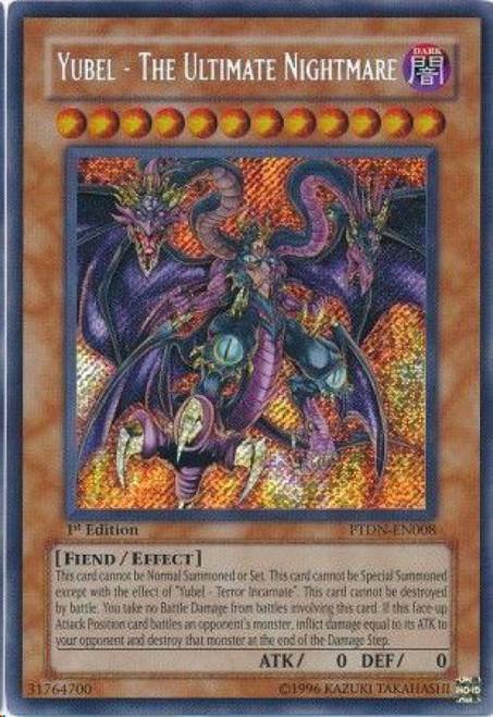 YuGiOh GX Trading Card Game Phantom Darkness Secret Rare Yubel - The Ultimate Nightmare PTDN-EN008