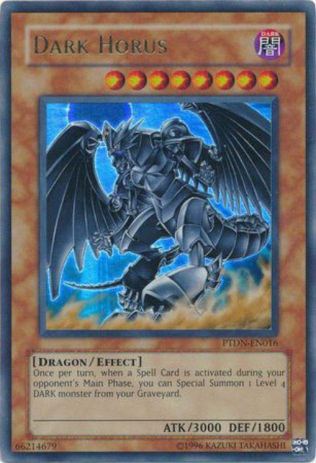 YuGiOh GX Trading Card Game Phantom Darkness Ultra Rare Dark Horus PTDN-EN016