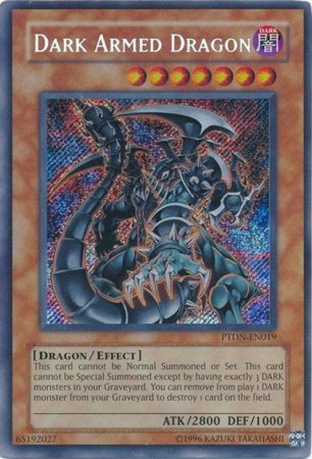YuGiOh GX Phantom Darkness Secret Rare Dark Armed Dragon PTDN-EN019