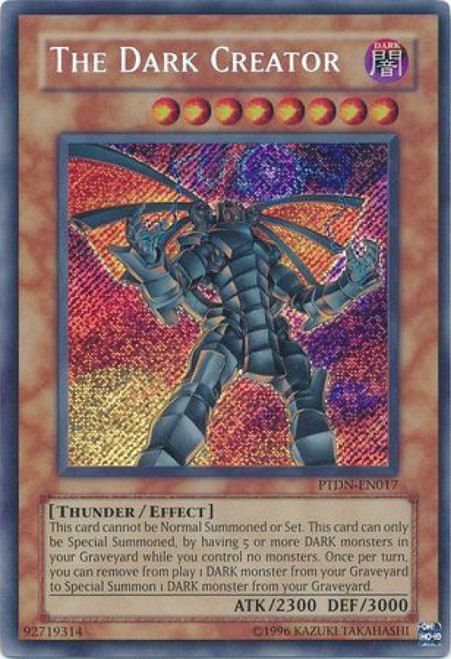 YuGiOh GX Phantom Darkness Secret Rare The Dark Creator PTDN-EN017