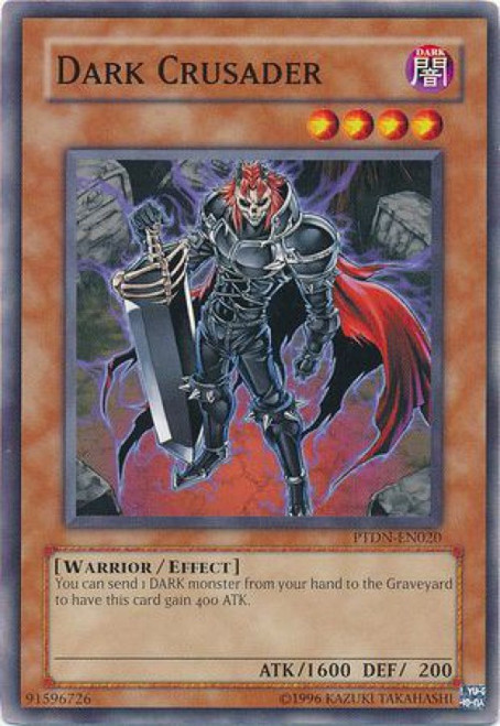YuGiOh GX Trading Card Game Phantom Darkness Common Dark Crusader PTDN-EN020