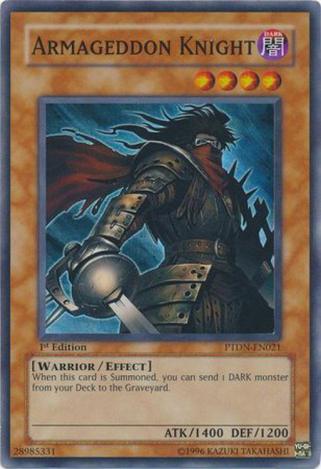 YuGiOh GX Trading Card Game Phantom Darkness Super Rare Armageddon Knight PTDN-EN021