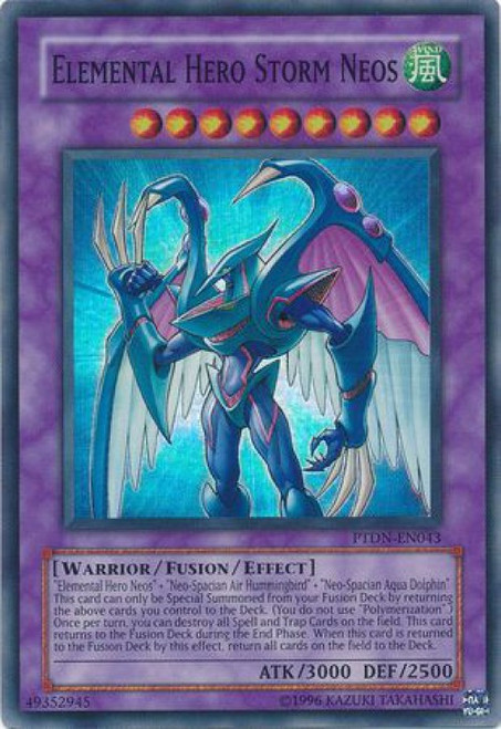 YuGiOh GX Trading Card Game Phantom Darkness Super Rare Elemental Hero Storm Neos PTDN-EN043