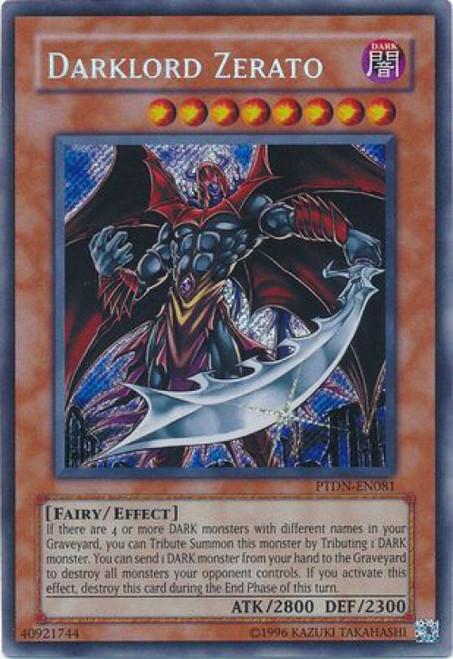 YuGiOh GX Trading Card Game Phantom Darkness Secret Rare Darklord Zerato PTDN-EN081