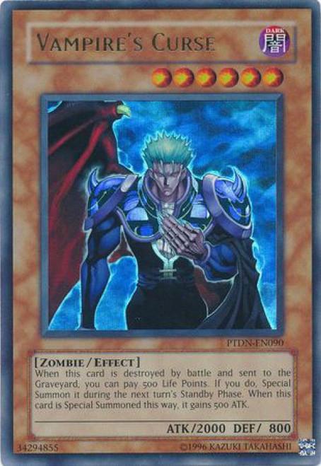 YuGiOh GX Trading Card Game Phantom Darkness Ultra Rare Vampire's Curse PTDN-EN090