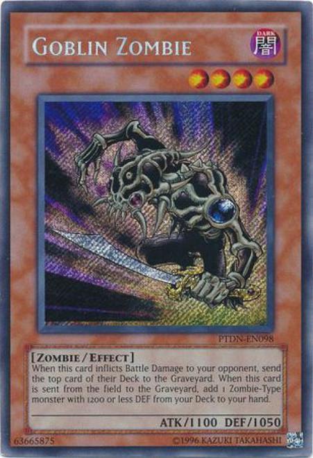 YuGiOh GX Trading Card Game Phantom Darkness Secret Rare Goblin Zombie PTDN-EN098