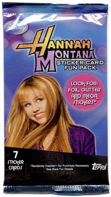 Disney Hannah Montana Sticker Cards Fun Pack