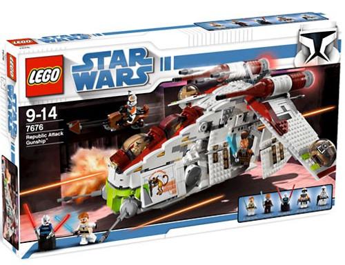 LEGO Star Wars The Clone Wars Republic Attack Gunship Exclusive Set #7676