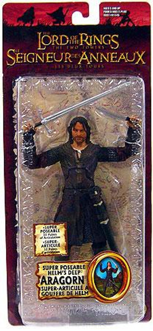 The Lord of the Rings The Two Towers Super Poseable Aragorn Action Figure [Helm's Deep]