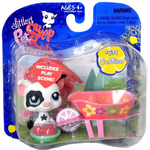 Littlest Pet Shop Black and White Pig Action Figure