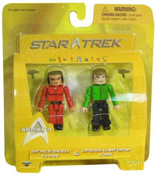 Star Trek The Original Series Minimates Series 3 Space Seed Khan & Dress Uniform Kirk Minifigure 2-Pack