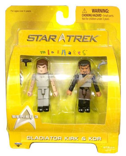 Star Trek The Original Series Minimates Series 3 Gladiator Kirk & Kor Minifigure 2-Pack