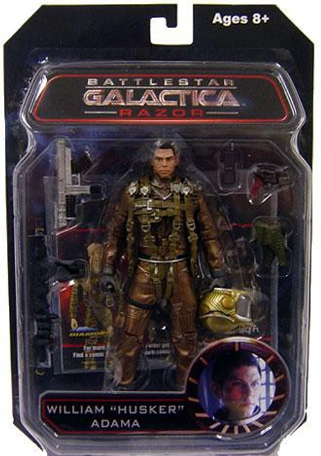 "Battlestar Galactica Series 3 Razor William ""Husker"" Adama Action Figure"