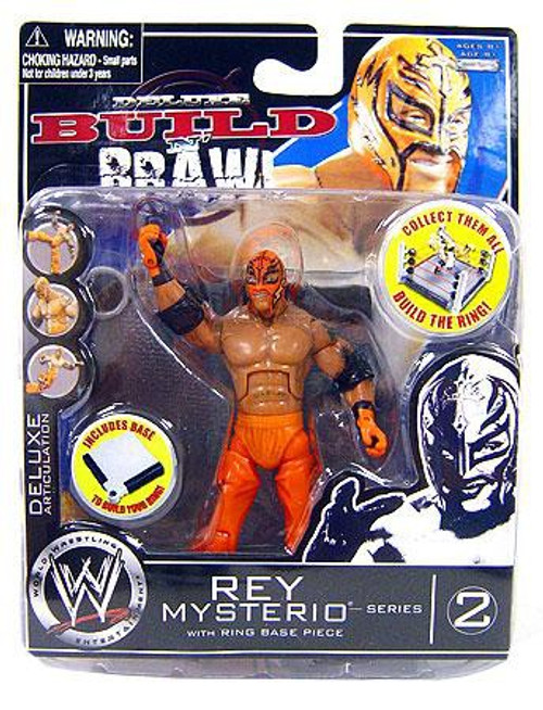 WWE Wrestling Build N' Brawl Series 2 Rey Mysterio Action Figure