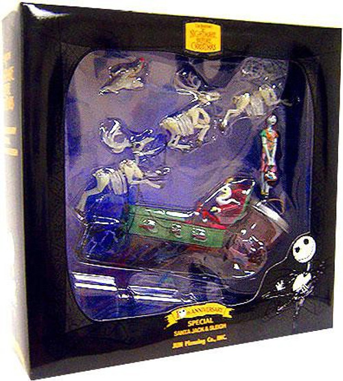 NECA Nightmare Before Christmas 10th Anniversary Santa Jack & Sleigh Action Figure