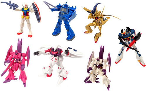 Gundam Gashapan DX4 Set of 7 Mini Figures #40