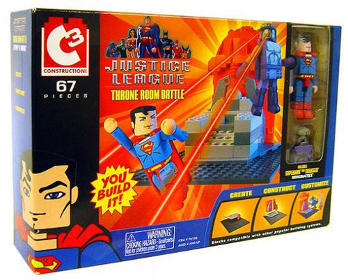 Justice League C3 Construction Throne Room Battle Set