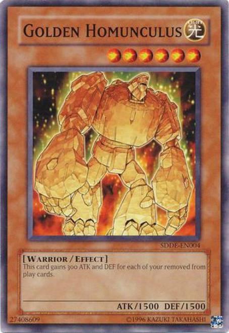 YuGiOh GX Trading Card Game The Dark Emperor Common Golden Homunculus SDDE-EN004